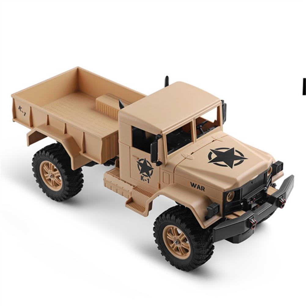 rc-cars Wltoys 124301 1/12 2.4G 4WD 45cm 390 Bruhed Rc Car 1.2kg Load Off-road Military Truck RTR Toy RC1326489 2