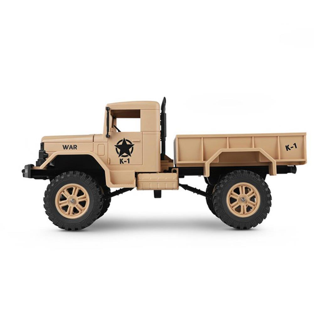 rc-cars Wltoys 124301 1/12 2.4G 4WD 45cm 390 Bruhed Rc Car 1.2kg Load Off-road Military Truck RTR Toy RC1326489 3