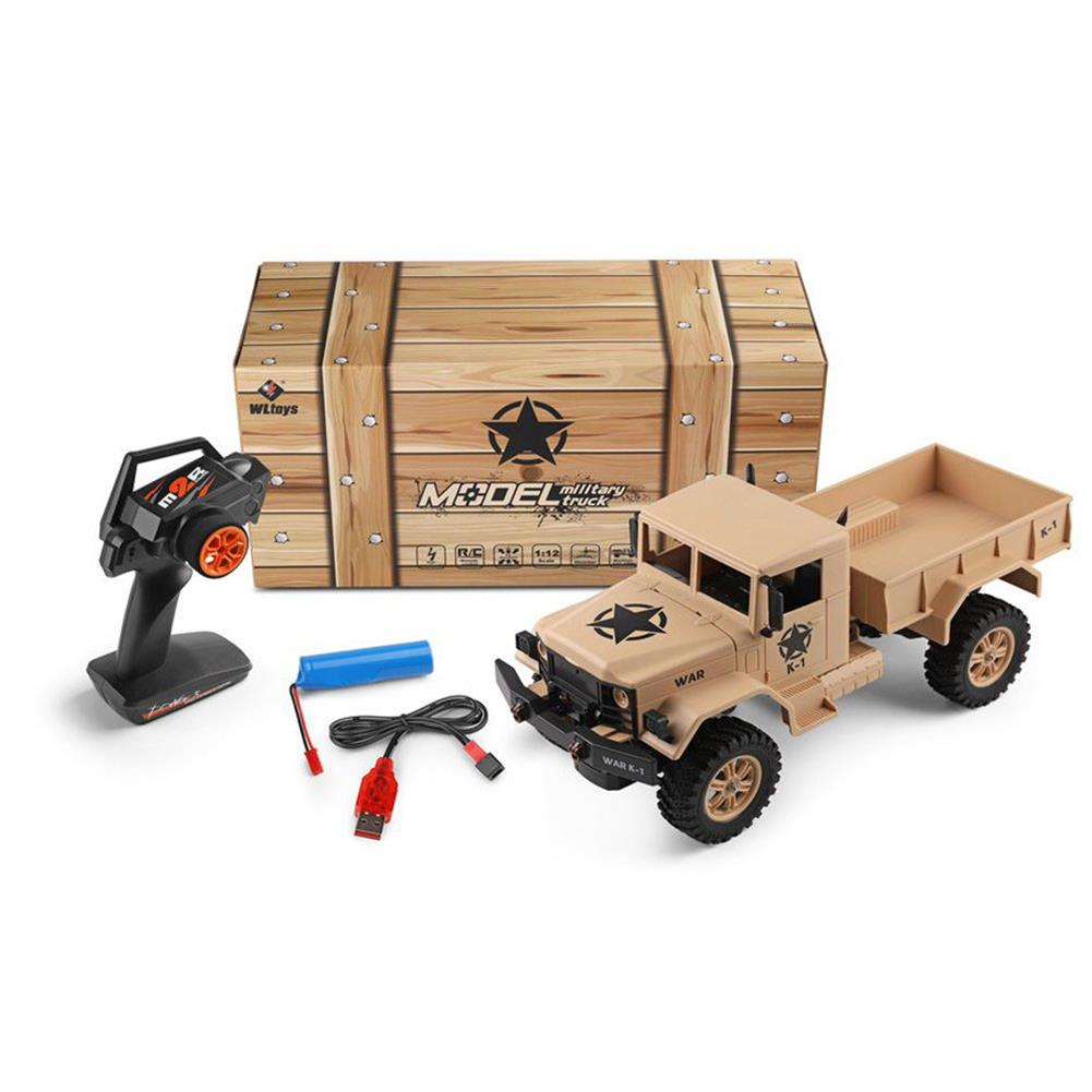 rc-cars Wltoys 124301 1/12 2.4G 4WD 45cm 390 Bruhed Rc Car 1.2kg Load Off-road Military Truck RTR Toy RC1326489 6