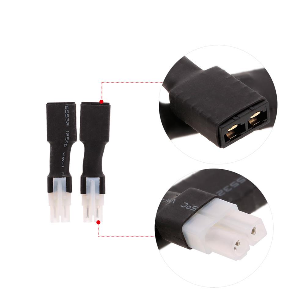 connector-cable-wire 2pcs Tamiya Head Male & Female to Traxxas Plug Female Male Connector Adapter for RC Car Battery RC1327129 5
