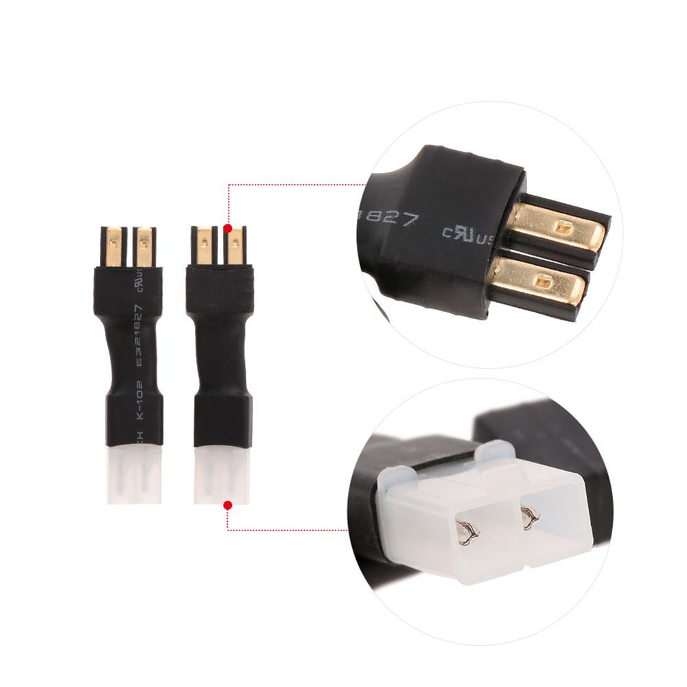 connector-cable-wire 2pcs Tamiya Head Male & Female to Traxxas Plug Female Male Connector Adapter for RC Car Battery RC1327129 9