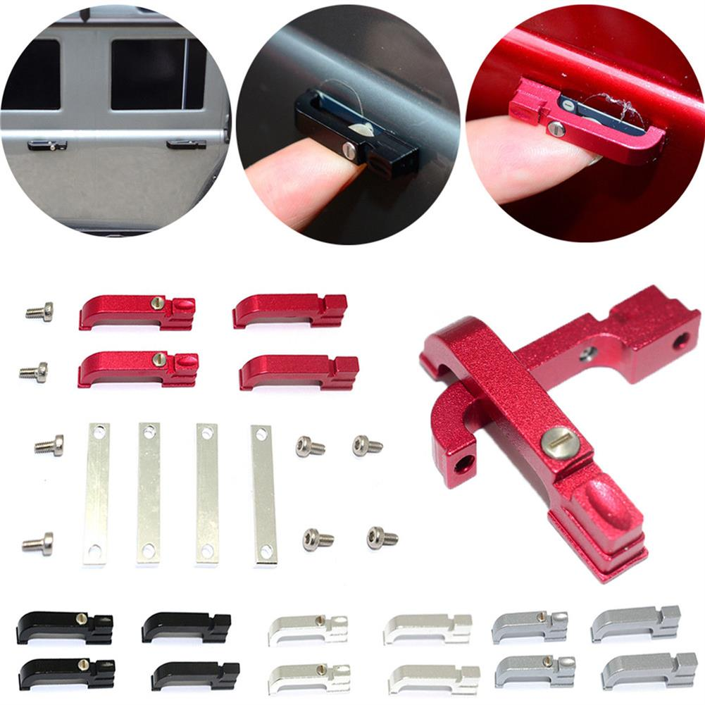 rc-car-parts 4PCS GRC Aluminum Door Handle Holder FOR 1/10 RC TRAXXAS TRX4 T4 D90 D110 RC1330404