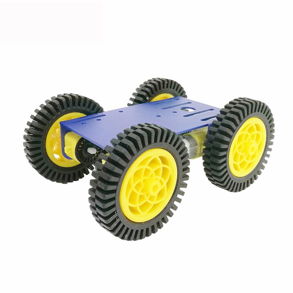 robot-parts-tools C101 Mini DIY 4wd Smart Robot Car Base Chassis Toy RobotWith TT Motor Metal Panel RC1333951