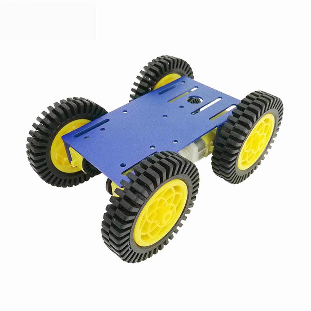robot-parts-tools C101 Mini DIY 4wd Smart Robot Car Base Chassis Toy RobotWith TT Motor Metal Panel RC1333951 1