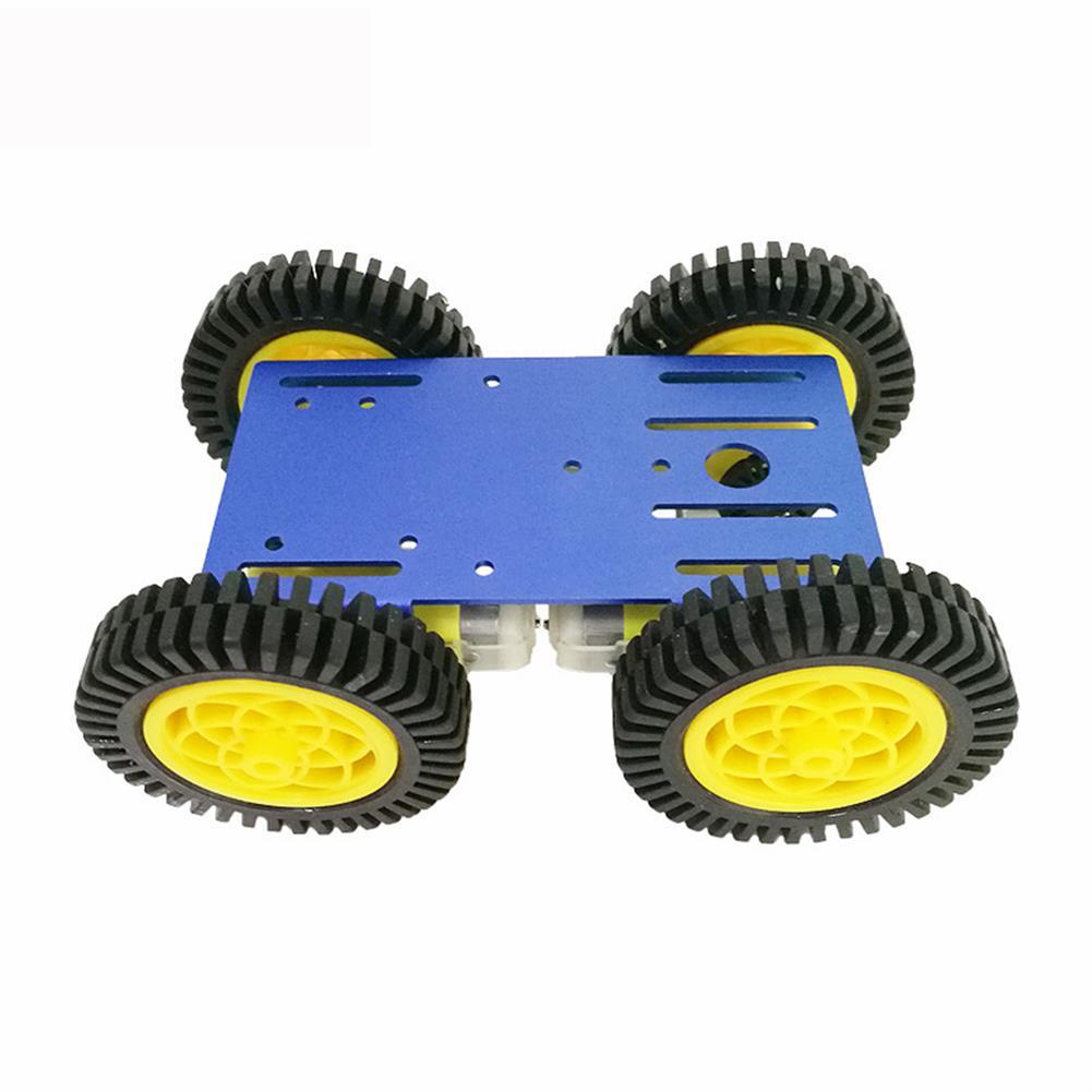 robot-parts-tools C101 Mini DIY 4wd Smart Robot Car Base Chassis Toy RobotWith TT Motor Metal Panel RC1333951 2
