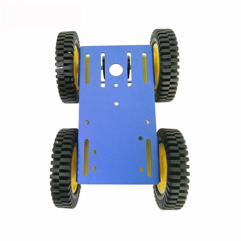 robot-parts-tools C101 Mini DIY 4wd Smart Robot Car Base Chassis Toy RobotWith TT Motor Metal Panel RC1333951 3