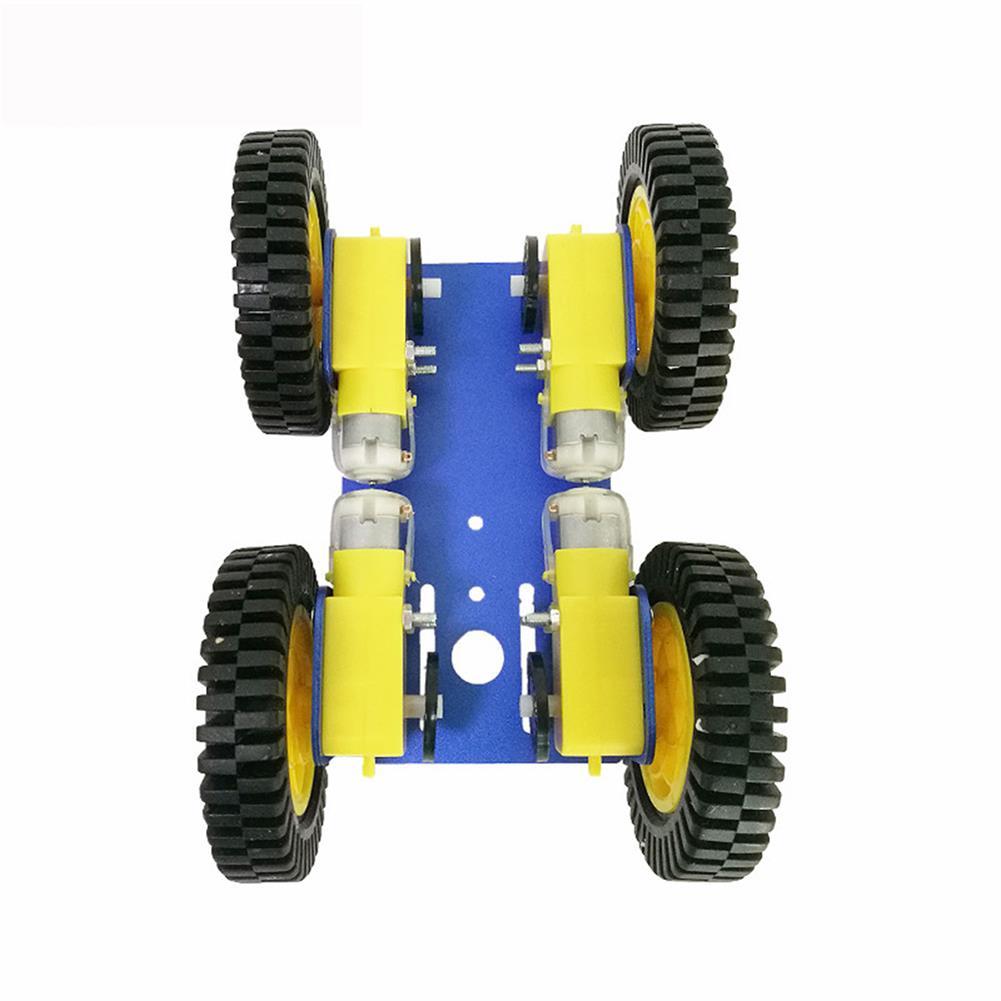 robot-parts-tools C101 Mini DIY 4wd Smart Robot Car Base Chassis Toy RobotWith TT Motor Metal Panel RC1333951 4