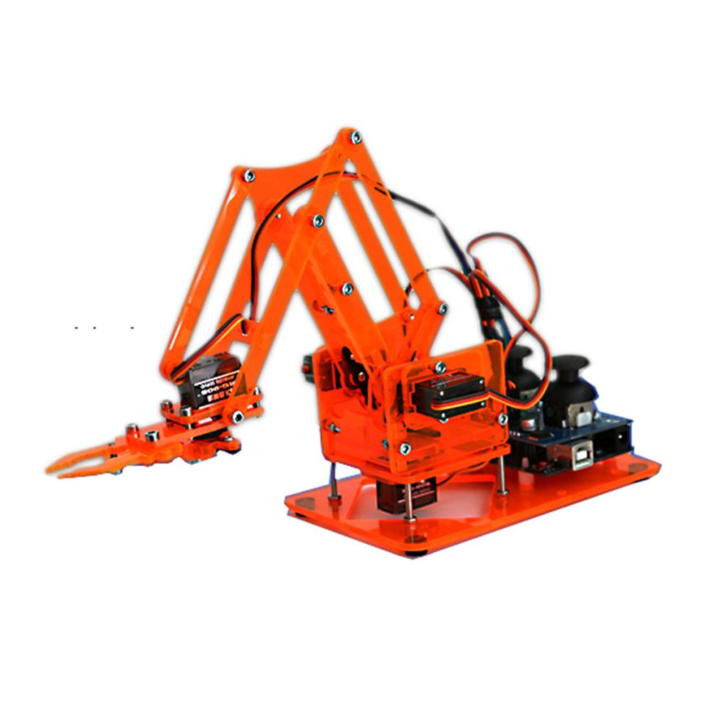 robot-arm-tank DIY Colorful Mechanical Robot Arm Kit with Infrared Controller Metal Servo for Arduino RC1343880