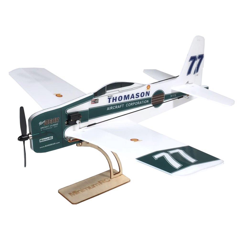 rc-airplane MinimumRC F8F Rare Bear 360mm Wingspan KT Board Mini RC Airplane KIT With 720 Coreless Motor RC1346681