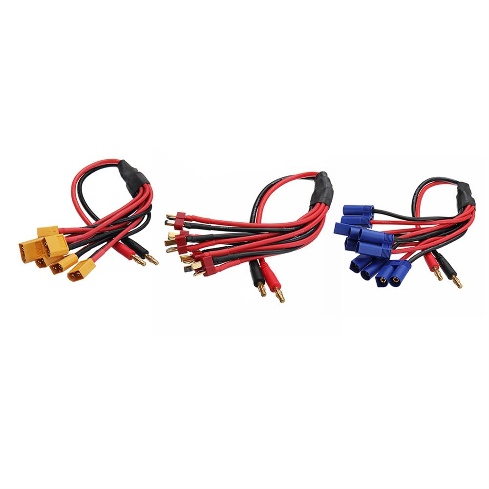 connector-cable-wire Amass 30cm 4.0mm Banana Plug to XT60 EC5 T Plug Battery Connectors Charger Cable for RC Lipo Battery RC1347370