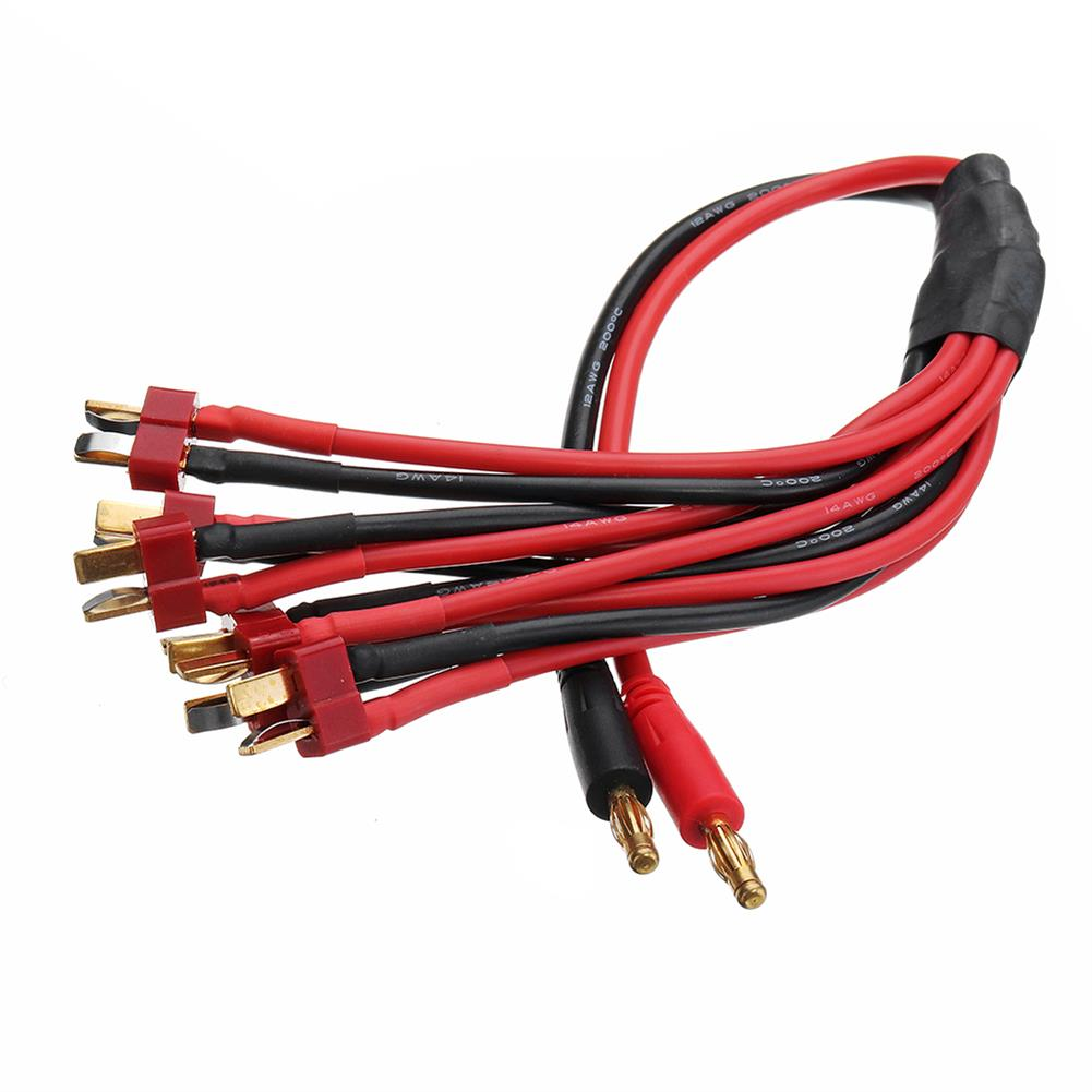 connector-cable-wire Amass 30cm 4.0mm Banana Plug to XT60 EC5 T Plug Battery Connectors Charger Cable for RC Lipo Battery RC1347370 3