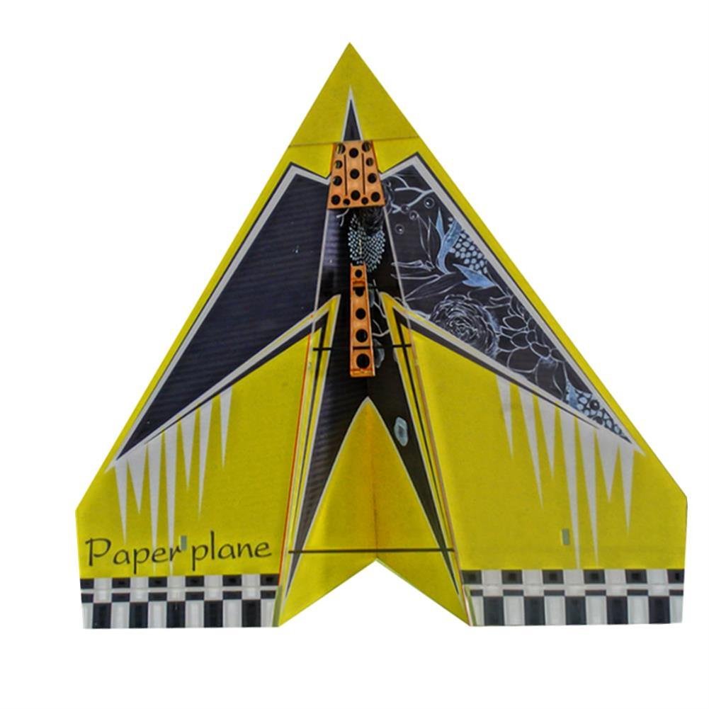 rc-airplanes 1024mm Wingspan DIY RC Airplane Aircraft Paper Plane KIT Red/Yellow RC1348402 1