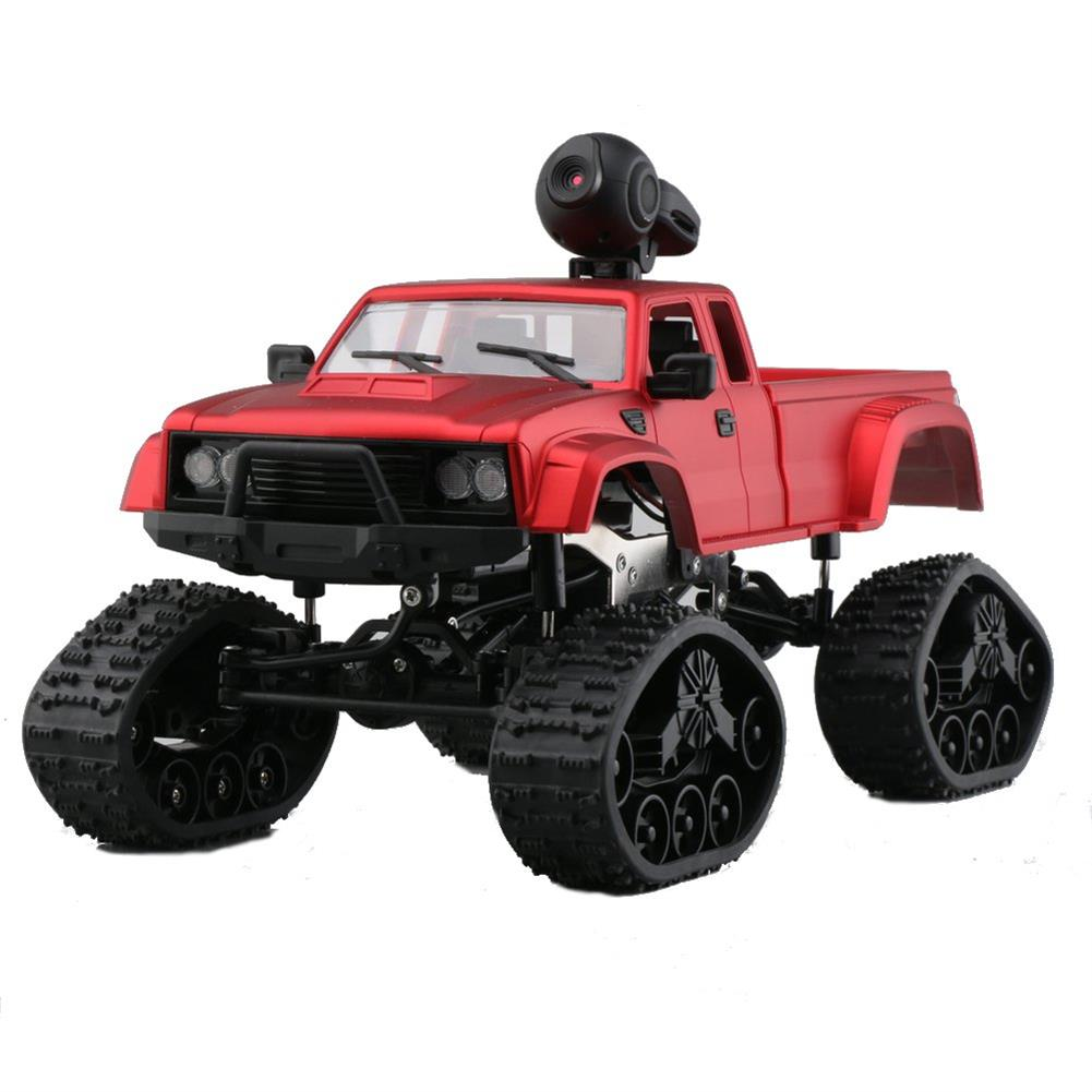 rc-cars Fayee FY002B 1/16 2.4G 4WD Rc Car 720P HD WIFI FPV Off-road Military Truck Track Wheel W/ LED Light RC1350105