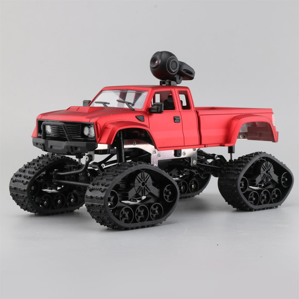 rc-cars Fayee FY002B 1/16 2.4G 4WD Rc Car 720P HD WIFI FPV Off-road Military Truck Track Wheel W/ LED Light RC1350105 1