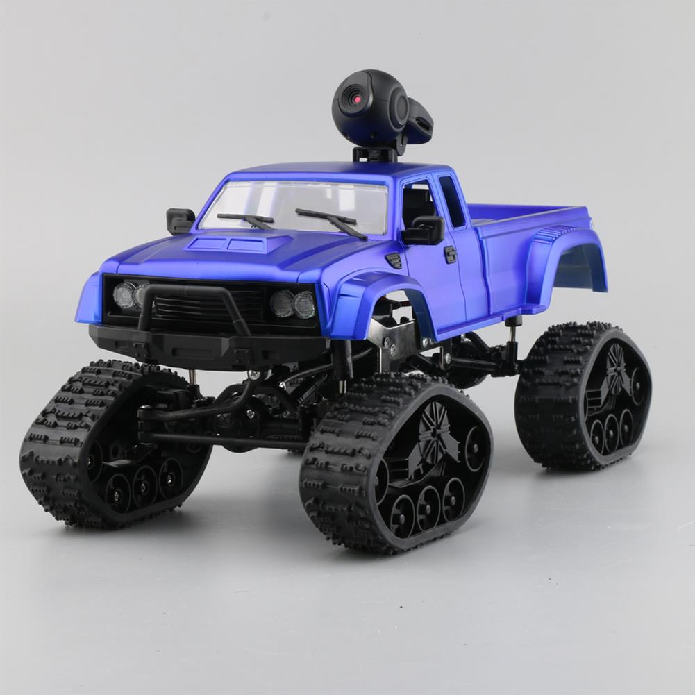 rc-cars Fayee FY002B 1/16 2.4G 4WD Rc Car 720P HD WIFI FPV Off-road Military Truck Track Wheel W/ LED Light RC1350105 4
