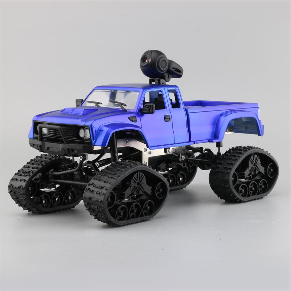 rc-cars Fayee FY002B 1/16 2.4G 4WD Rc Car 720P HD WIFI FPV Off-road Military Truck Track Wheel W/ LED Light RC1350105 6