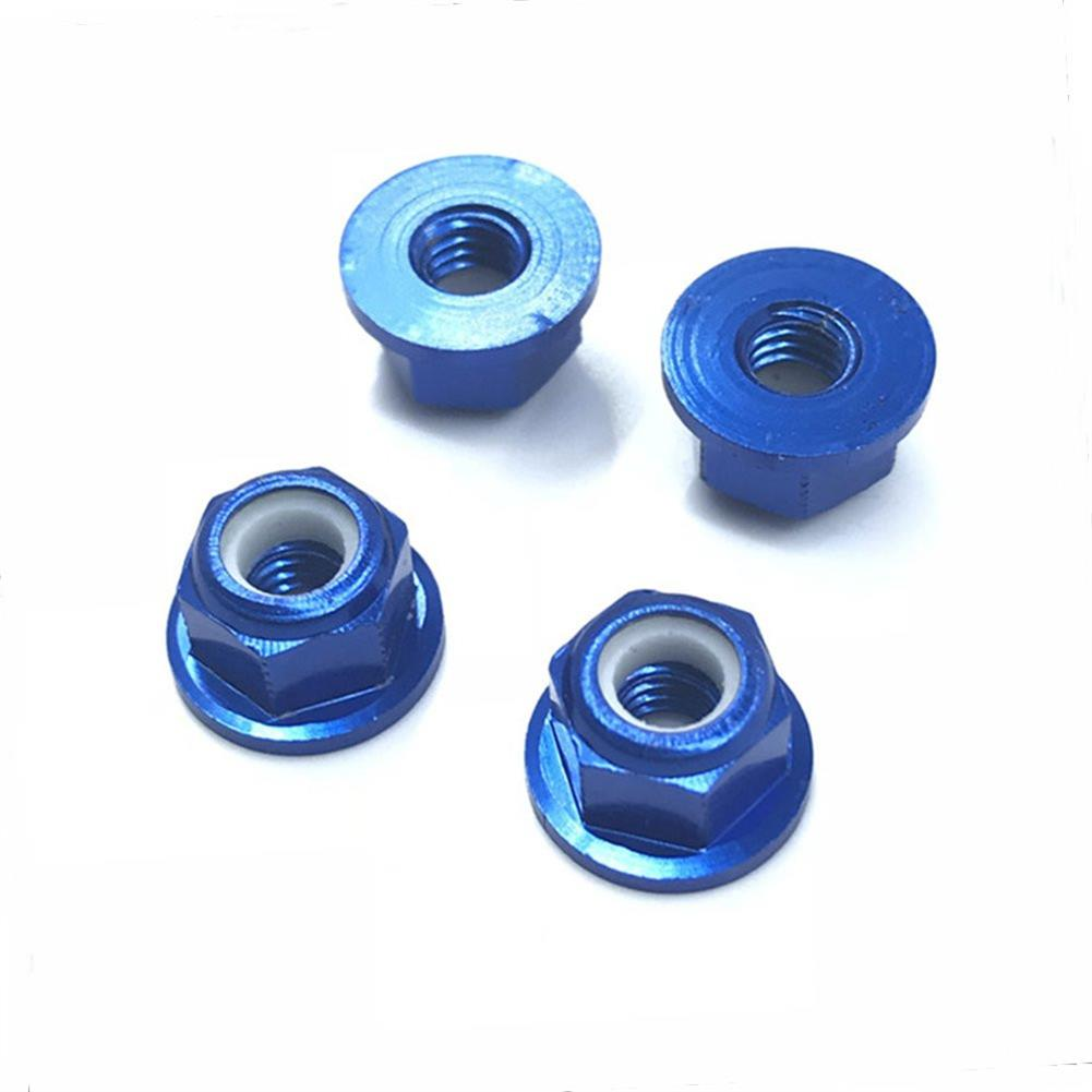 rc-car-parts-4PCS HSP 94101 94102 94105 1/10 Rc Car Upgrade Parts 102049 02055 Aluminum Alloy M4 Nylon Locknut-RC1361826 4