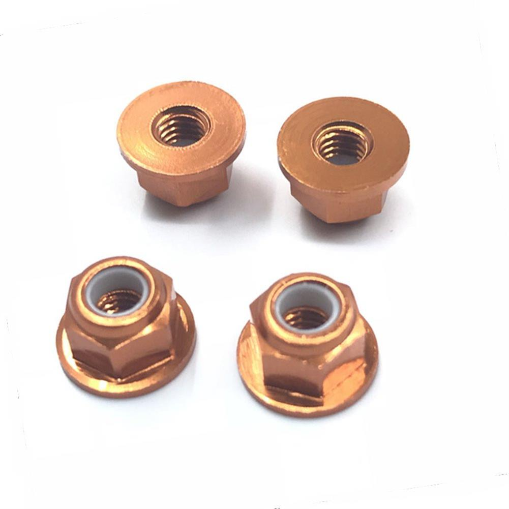 rc-car-parts-4PCS HSP 94101 94102 94105 1/10 Rc Car Upgrade Parts 102049 02055 Aluminum Alloy M4 Nylon Locknut-RC1361826 5
