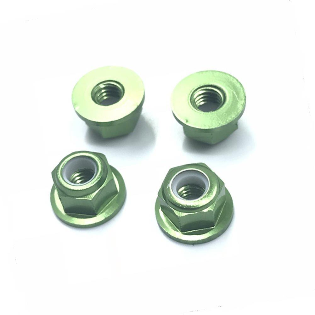 rc-car-parts-4PCS HSP 94101 94102 94105 1/10 Rc Car Upgrade Parts 102049 02055 Aluminum Alloy M4 Nylon Locknut-RC1361826 6