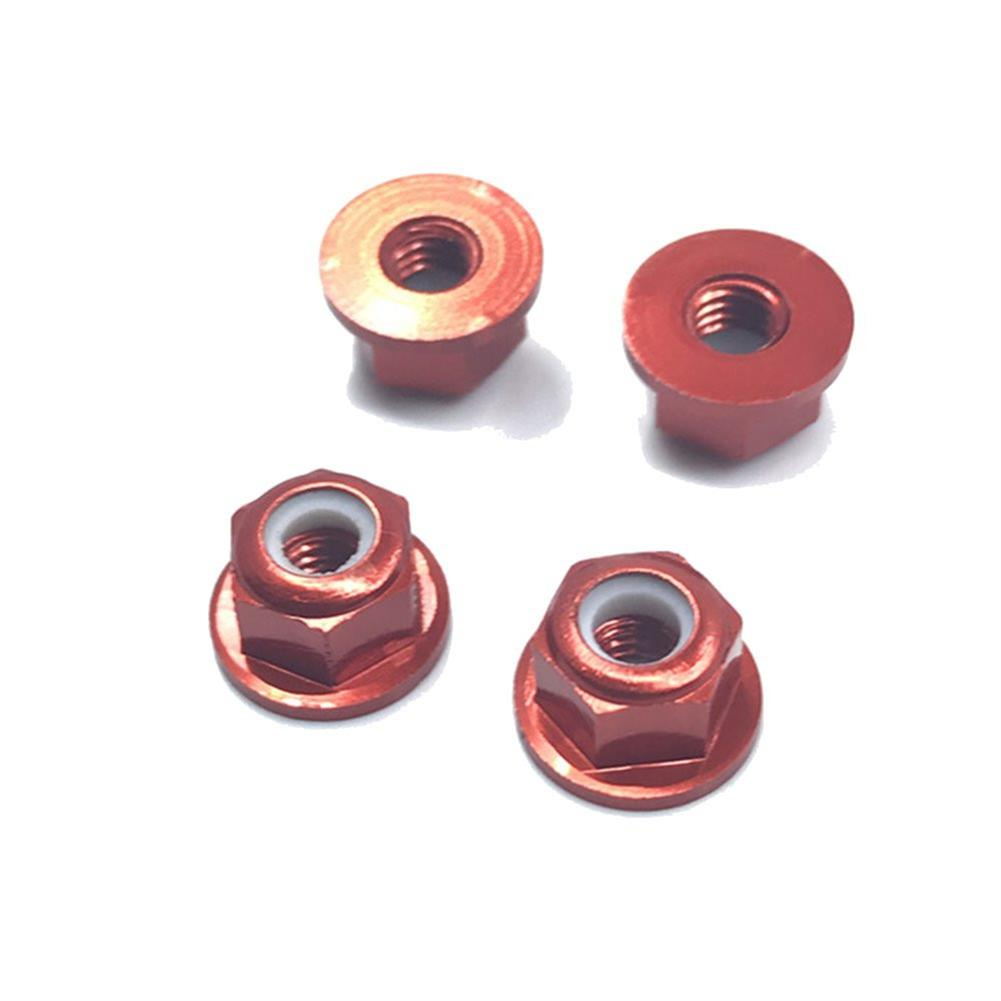 rc-car-parts-4PCS HSP 94101 94102 94105 1/10 Rc Car Upgrade Parts 102049 02055 Aluminum Alloy M4 Nylon Locknut-RC1361826 8