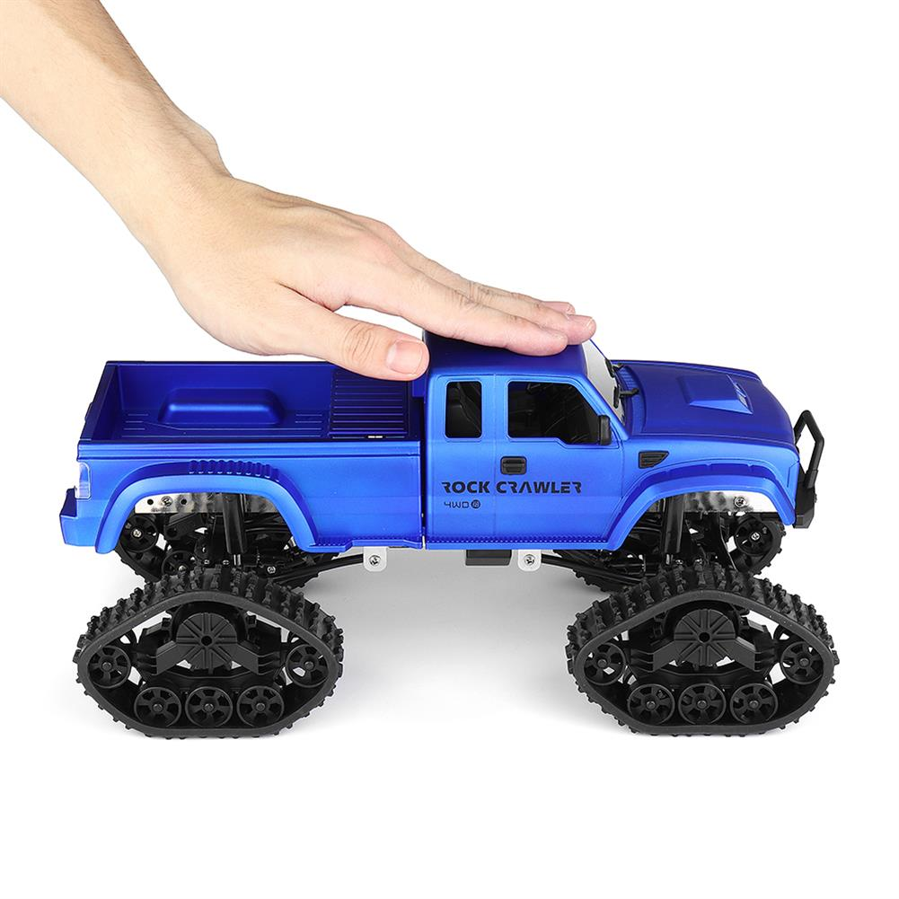 rc-cars Fayee FY002 1/16 2.4G 4WD Rc Car Military Truck Track Wheel Rock Crawler W/ LED Light RTR Toy RC1363822 2