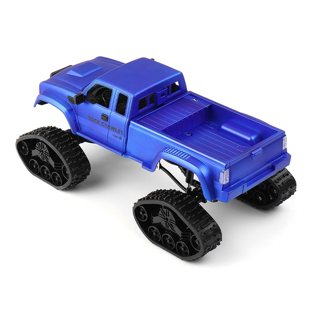 rc-cars Fayee FY002 1/16 2.4G 4WD Rc Car Military Truck Track Wheel Rock Crawler W/ LED Light RTR Toy RC1363822 3