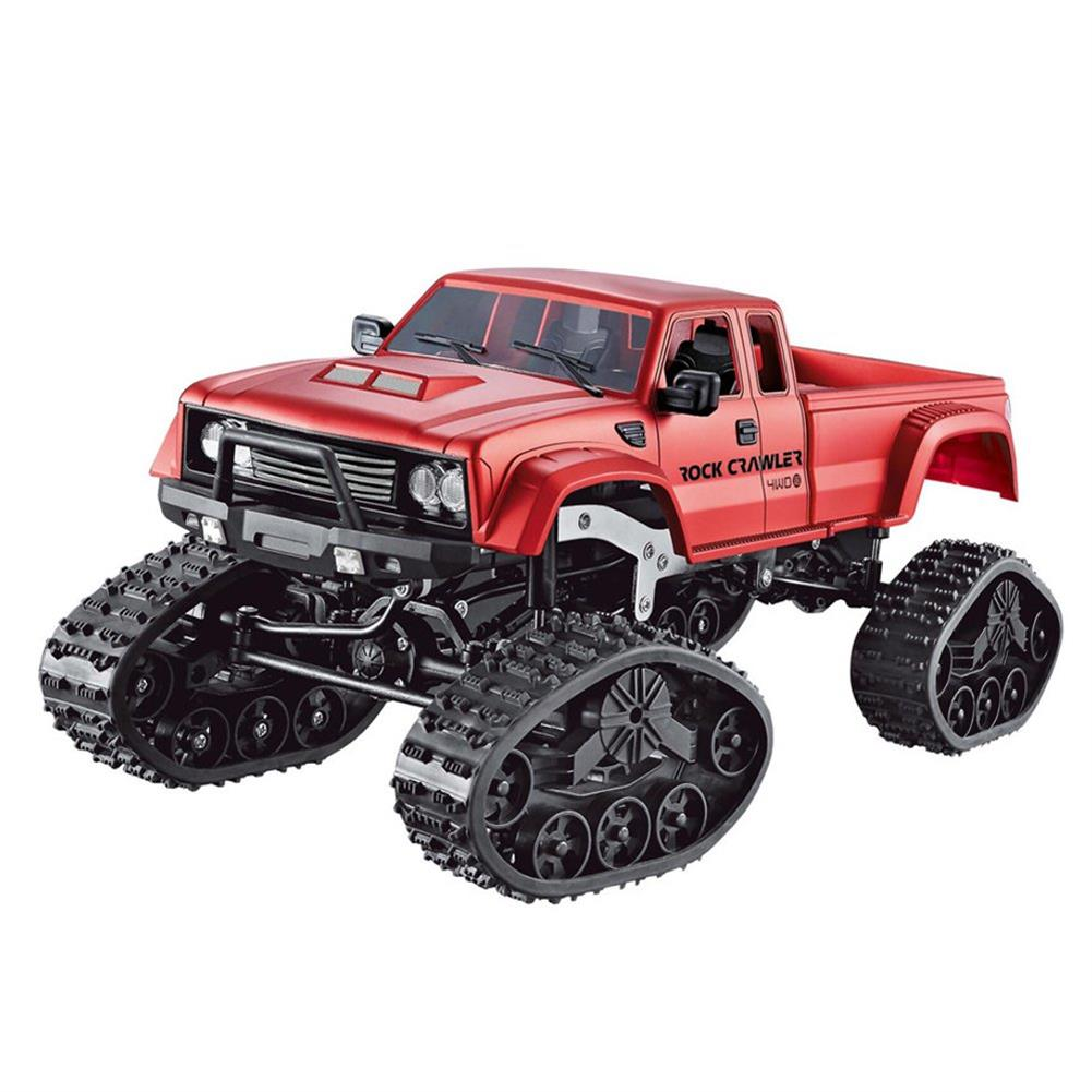 rc-cars Fayee FY002 1/16 2.4G 4WD Rc Car Military Truck Track Wheel Rock Crawler W/ LED Light RTR Toy RC1363822 6
