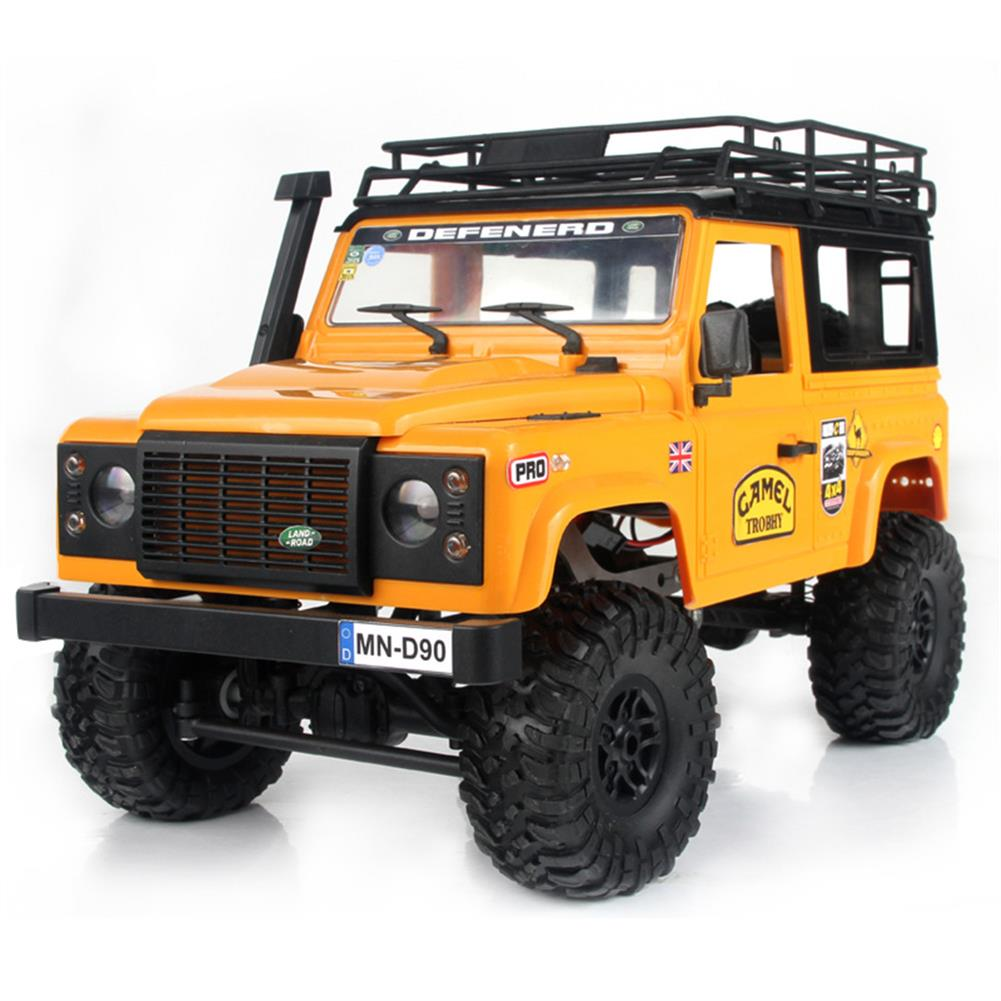 rc-cars MN-90 1/12 2.4G 4WD Rc Car W/ Front LED Light 2 Body Shell Roof Rack Crawler Monster Truck RTR Toy RC1364874