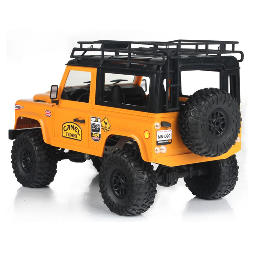 rc-cars MN-90 1/12 2.4G 4WD Rc Car W/ Front LED Light 2 Body Shell Roof Rack Crawler Monster Truck RTR Toy RC1364874 1