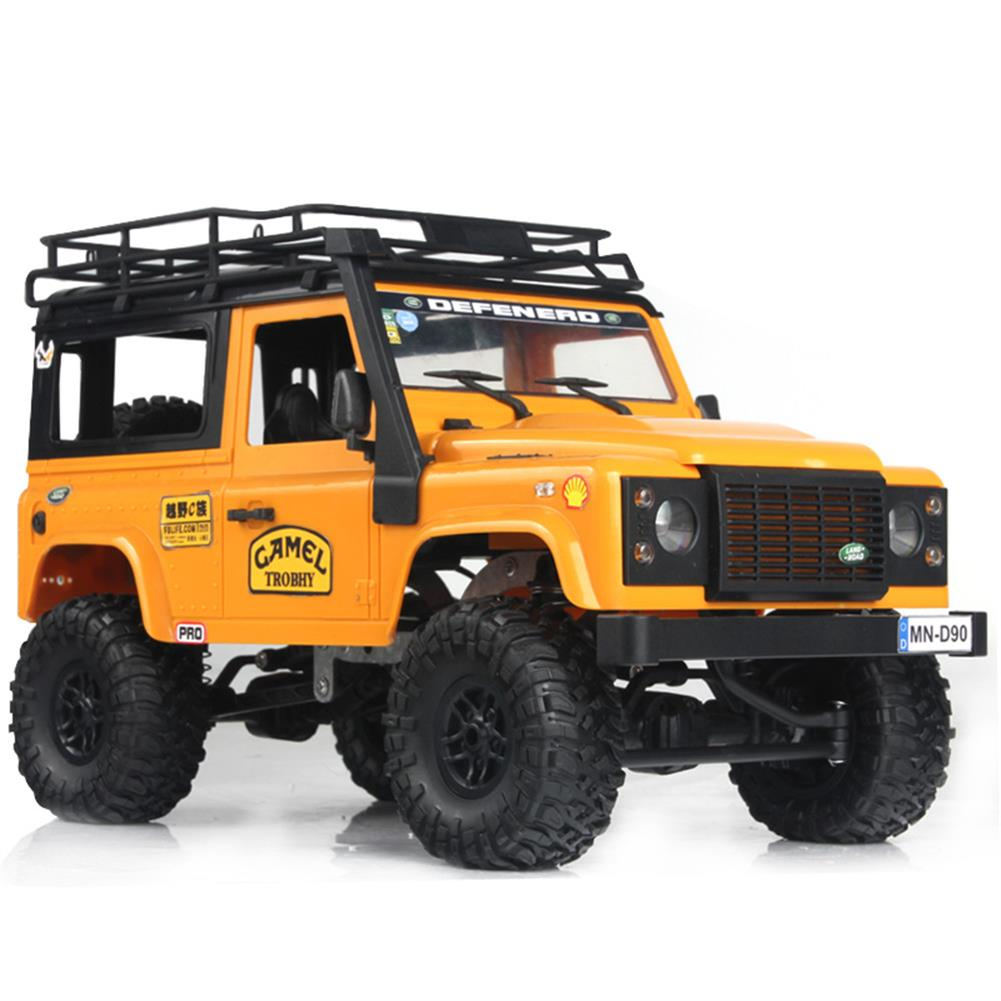 rc-cars MN-90 1/12 2.4G 4WD Rc Car W/ Front LED Light 2 Body Shell Roof Rack Crawler Monster Truck RTR Toy RC1364874 2