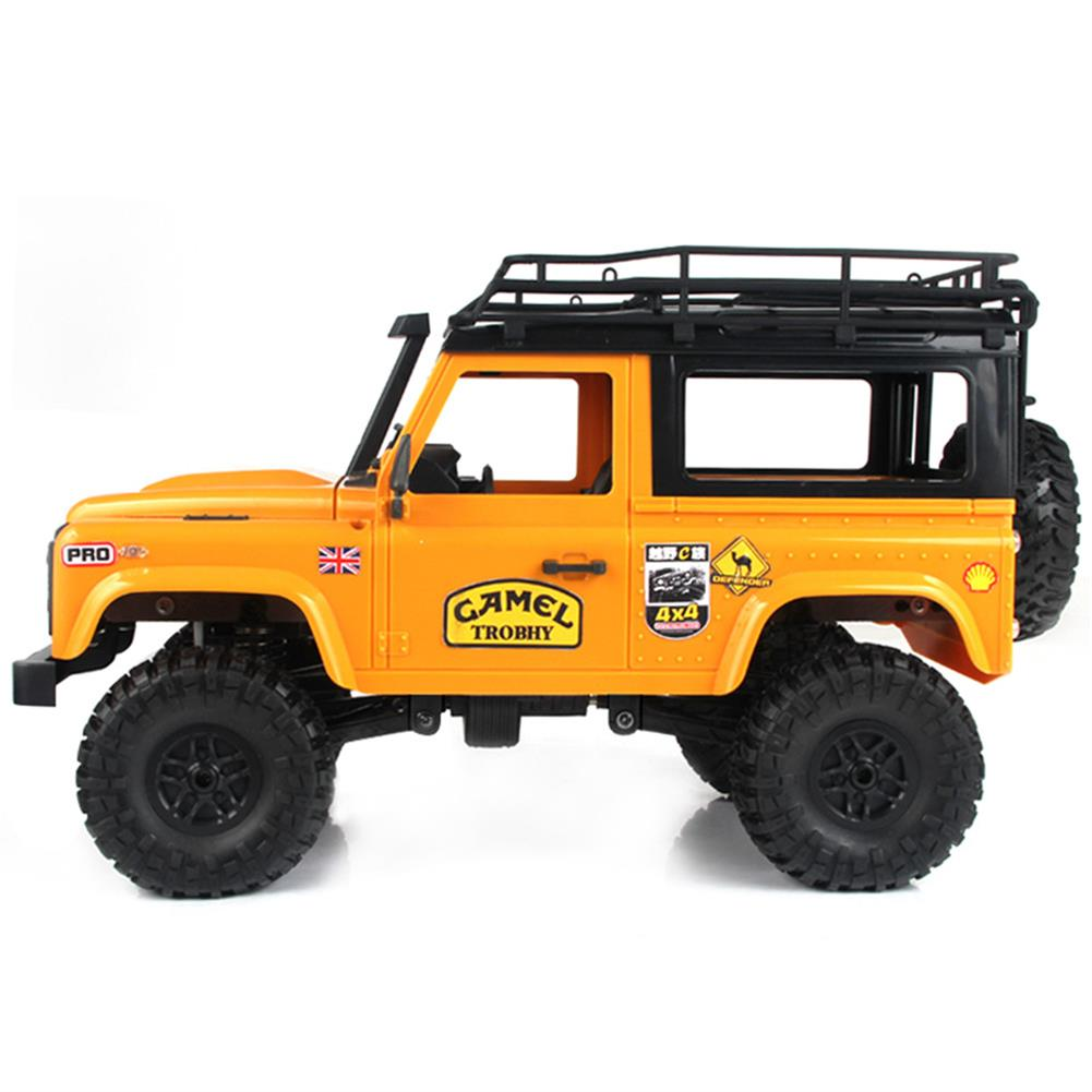 rc-cars MN-90 1/12 2.4G 4WD Rc Car W/ Front LED Light 2 Body Shell Roof Rack Crawler Monster Truck RTR Toy RC1364874 4