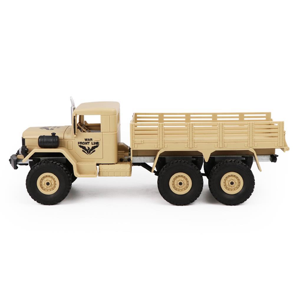 rc-cars JJRC Q63 1/16 2.4G 6WD Off-Road Transporter Military Truck Crawler RC Car RTR RC1368117 6