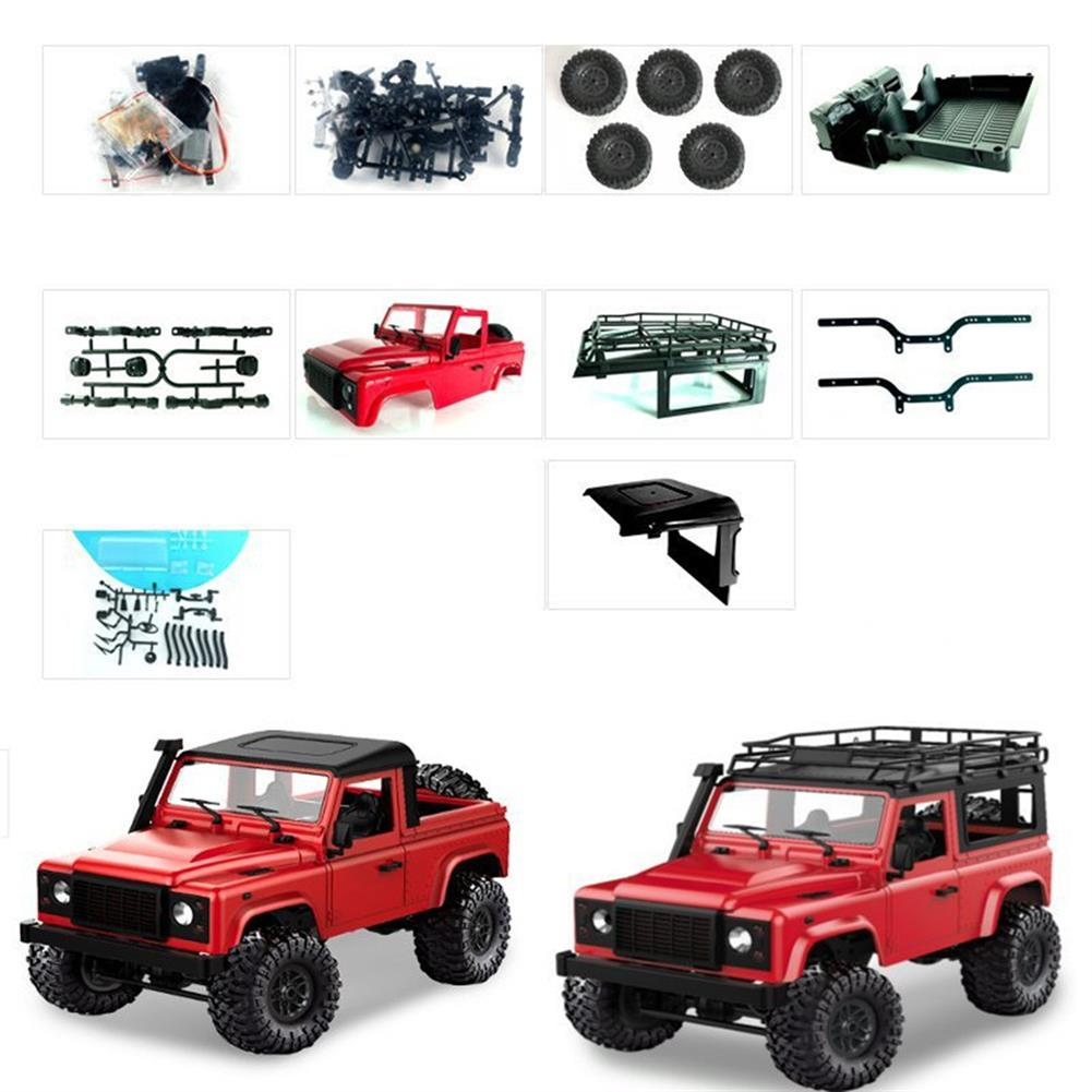 rc-cars 1 Set MN-90 Kit 1/12 2.4G 4WD Rc Car Crawler Monster Truck Without ESC Transmitter Receiver Battery RC1370557