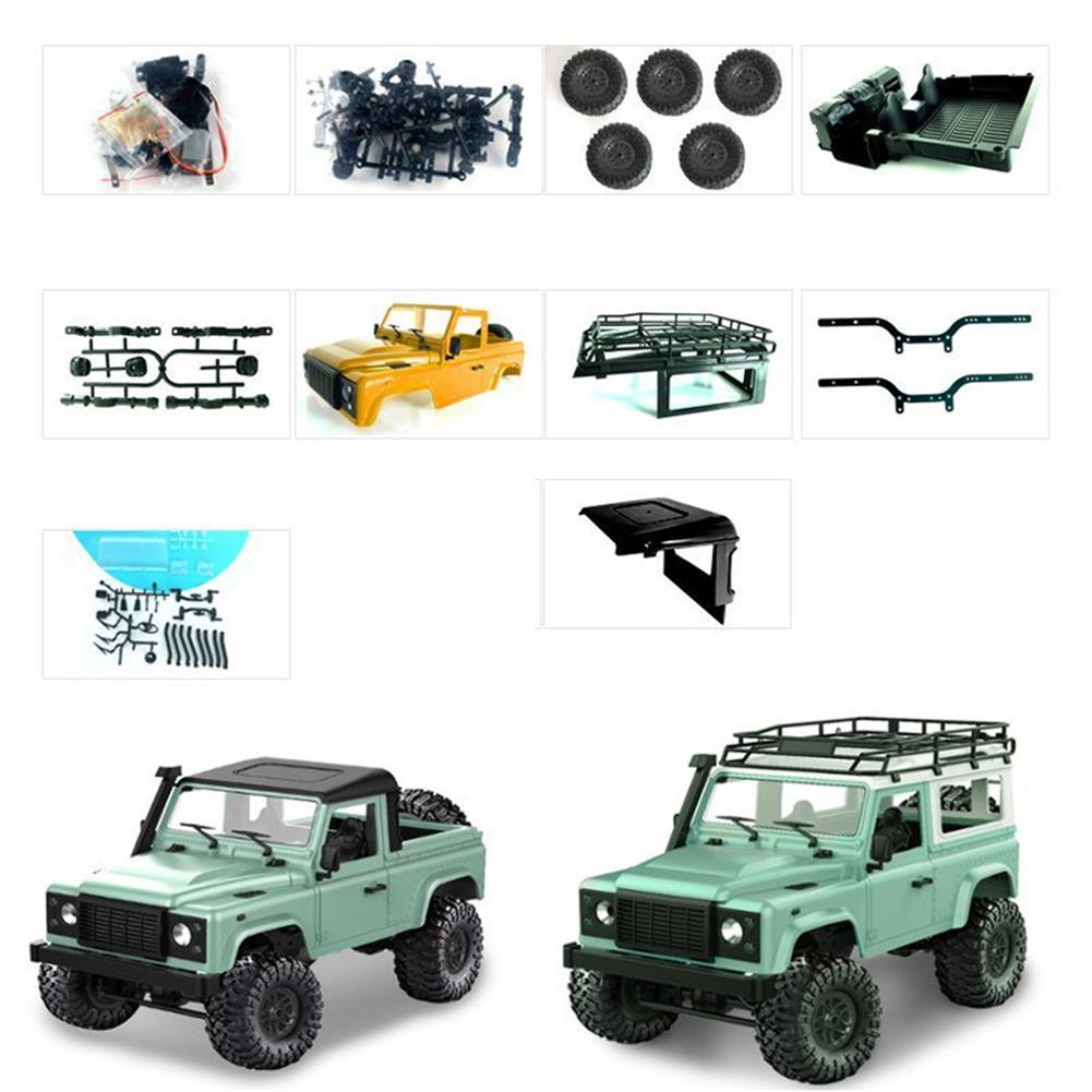 rc-cars 1 Set MN-90 Kit 1/12 2.4G 4WD Rc Car Crawler Monster Truck Without ESC Transmitter Receiver Battery RC1370557 1