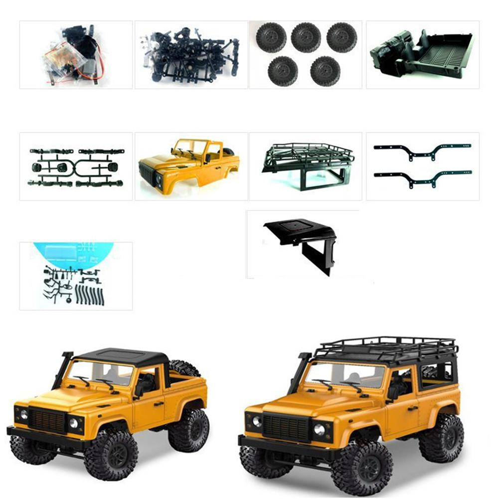 rc-cars 1 Set MN-90 Kit 1/12 2.4G 4WD Rc Car Crawler Monster Truck Without ESC Transmitter Receiver Battery RC1370557 2