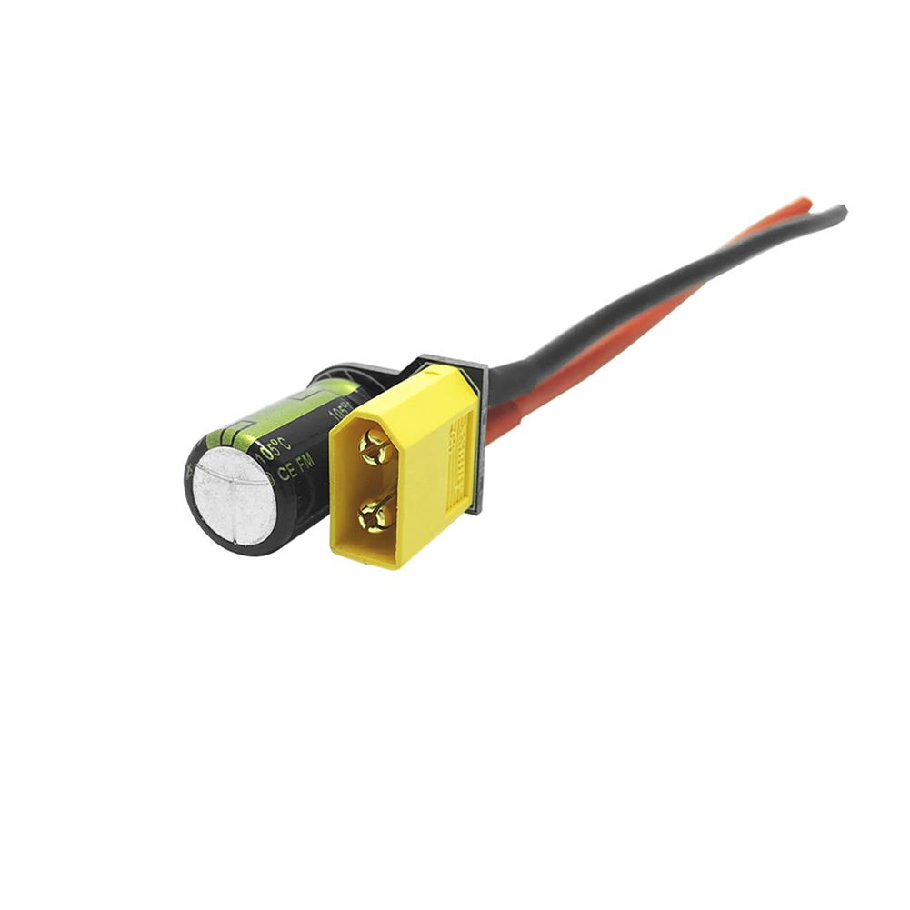 connector-cable-wire MotiveRC XT30/XT60 Male Plug Connector Cable with Capacitor for RC Drone RC1376005 3