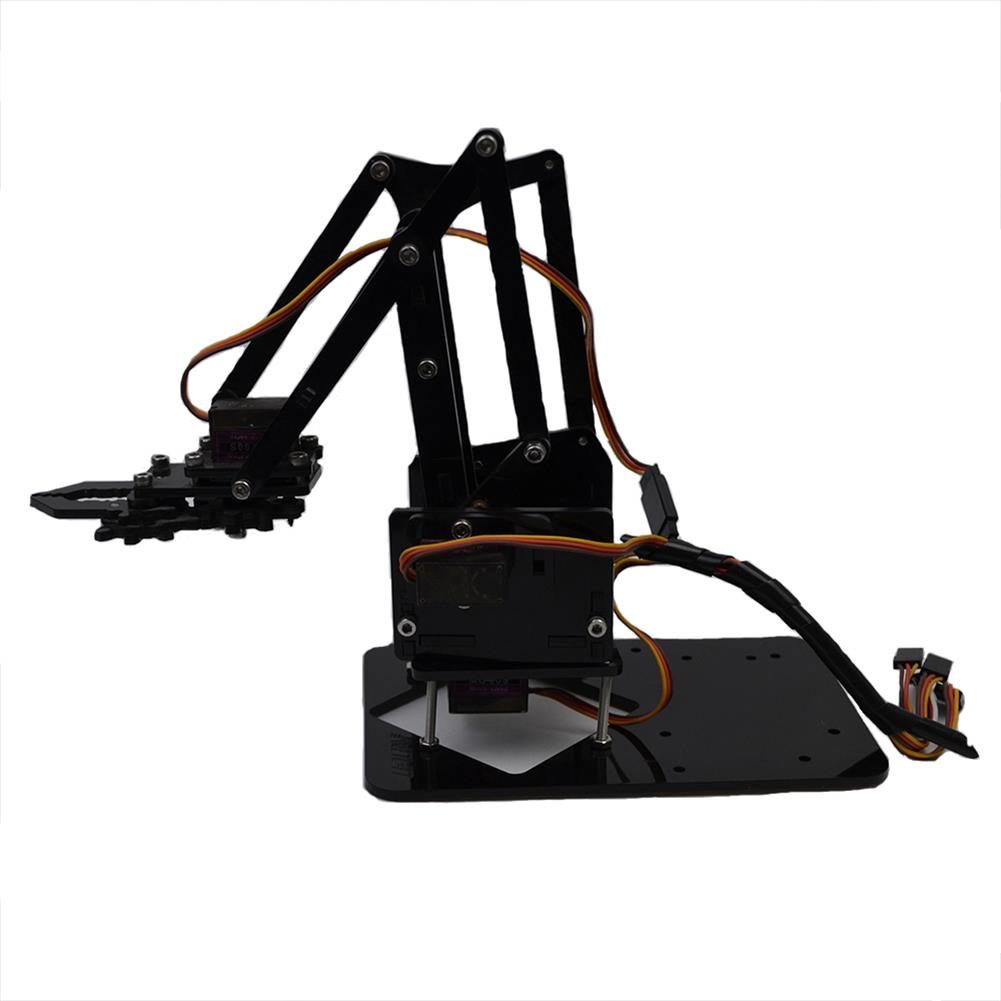 robot-arm-tank URUAV DIY 4DOF Smart Acrylic RC Robot Arm Assembled Arm Educational Kit For Arduino Black/White RC1383205