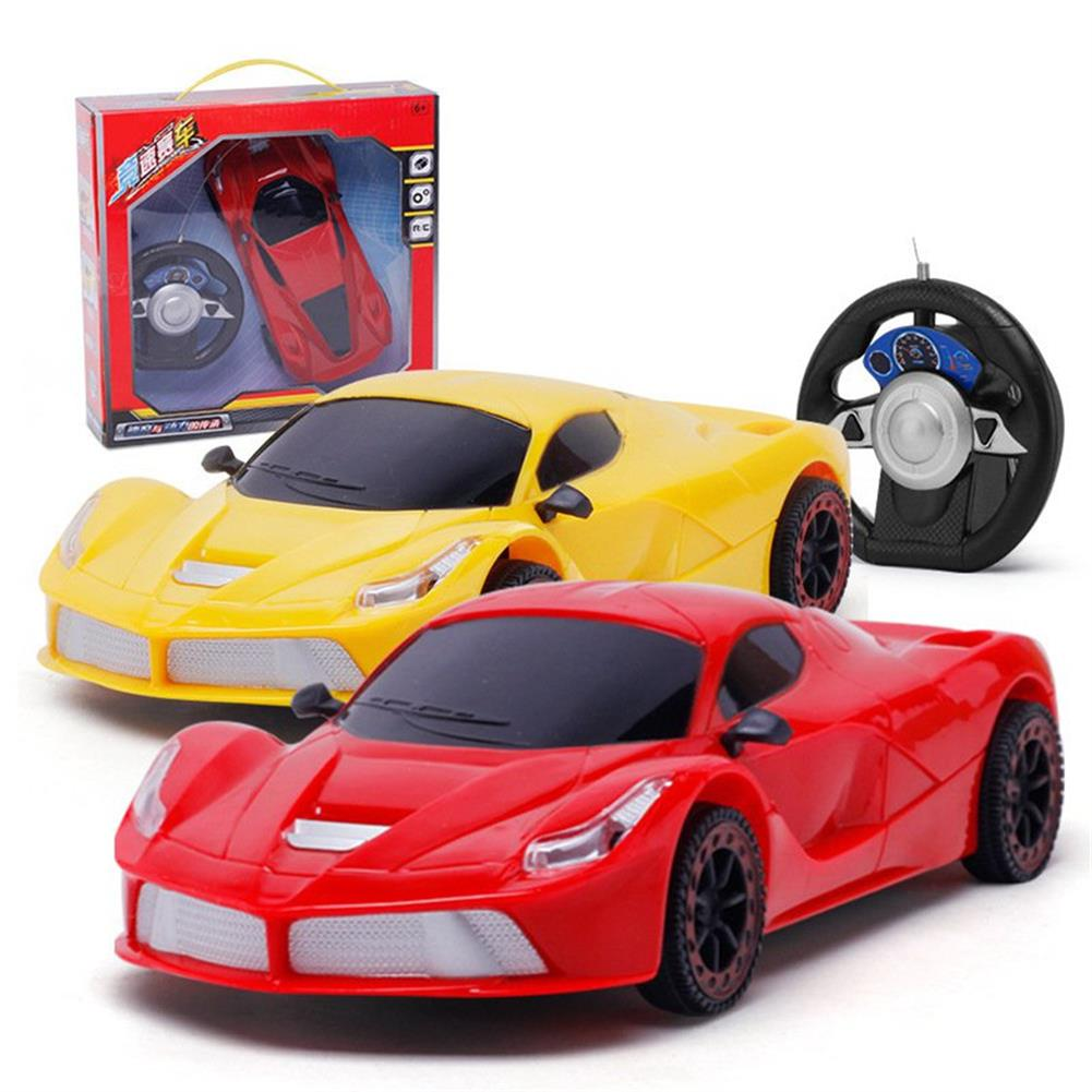rc-cars 1PC 1/20 27MHZ 2CH Radio Controlled Steering Wheel Rc Car Bugatti Electric Model Toy RC1383794