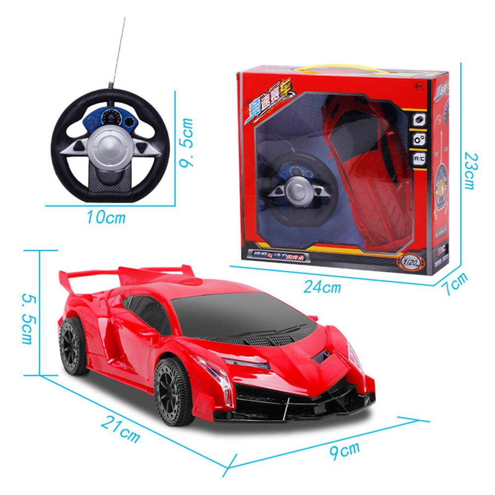 rc-cars 1PC 1/20 27MHZ 2CH Radio Controlled Steering Wheel Rc Car Bugatti Electric Model Toy RC1383794 3