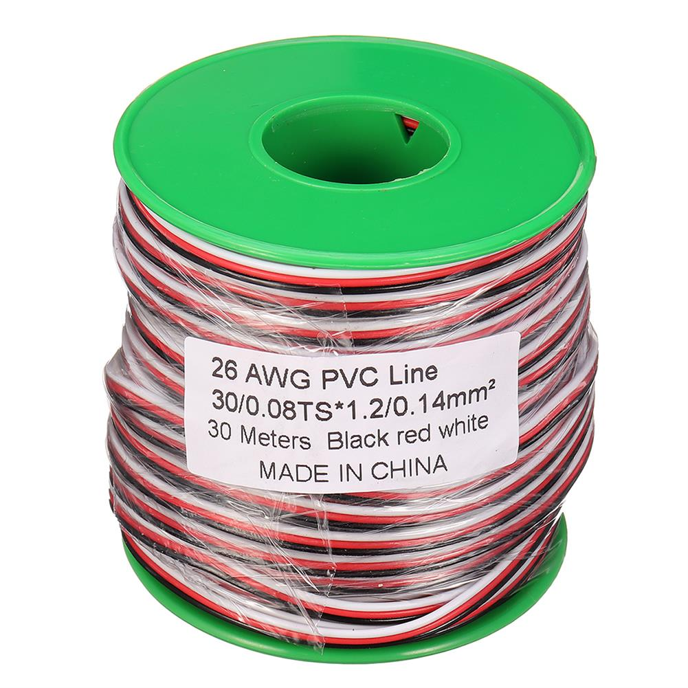 connector-cable-wire 30m 26AWG Soft Silicone Servo Cable Wire High Temperature Tinned Copper Flexible Wire RC1385641 8