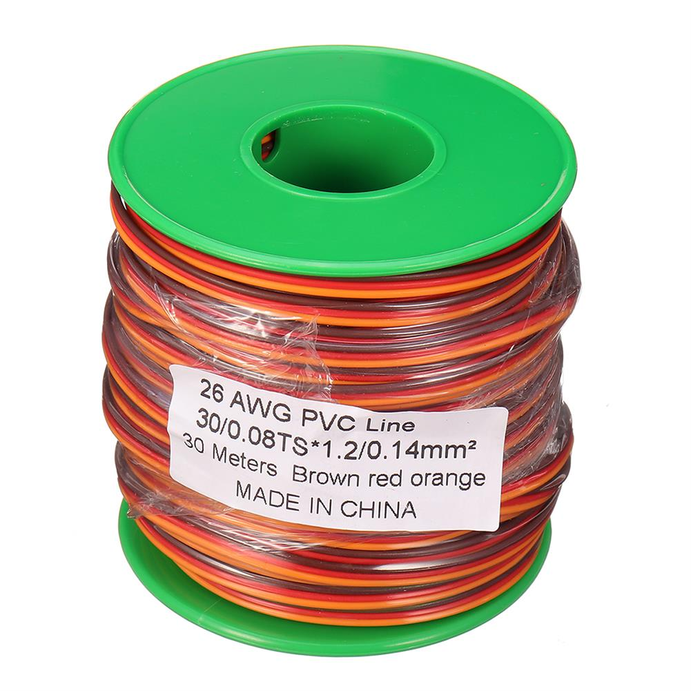 connector-cable-wire 30m 26AWG Soft Silicone Servo Cable Wire High Temperature Tinned Copper Flexible Wire RC1385641 9