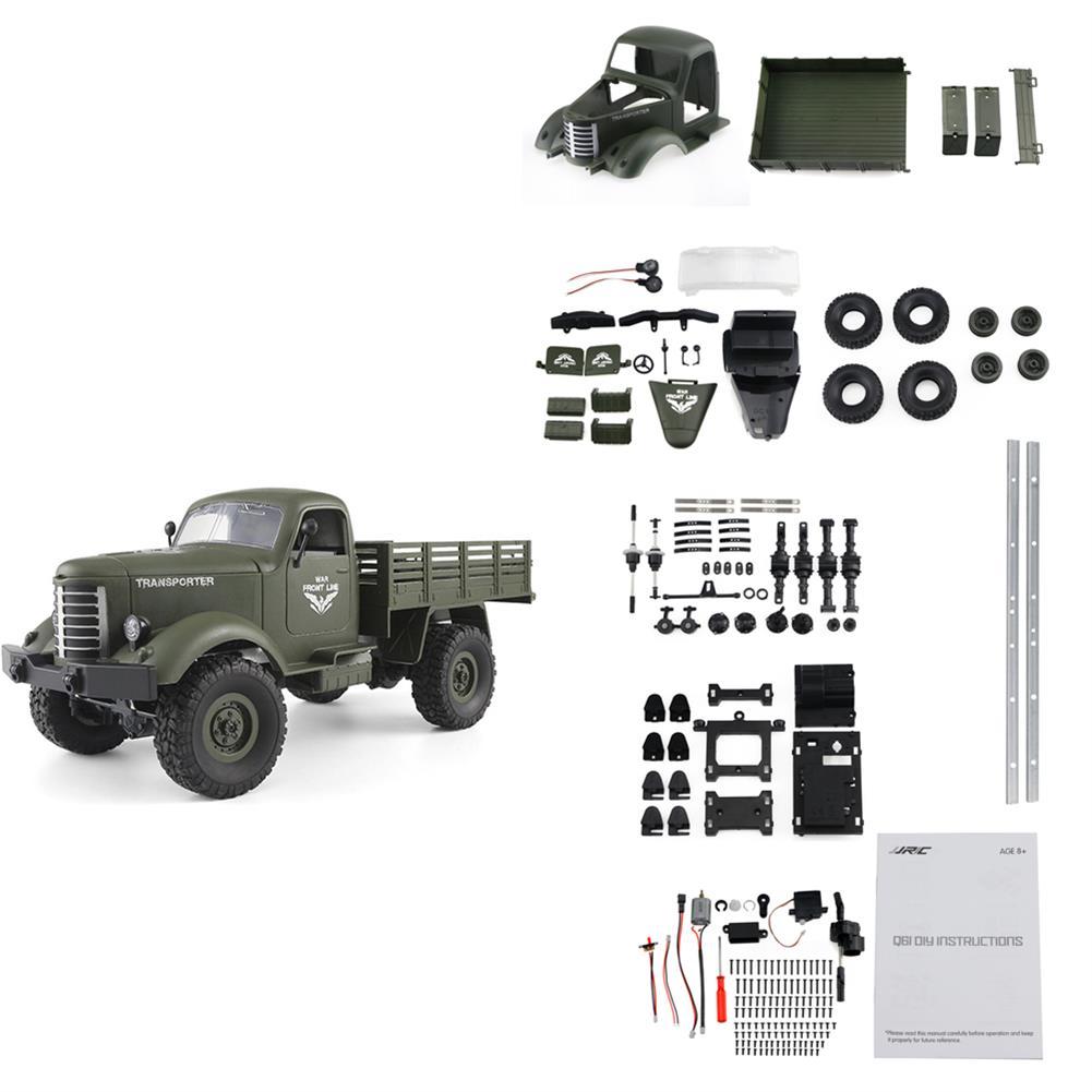 rc-cars JJRC Q61 Kit 1/16 2.4G 4WD Off-Road Military Truck Crawler RC Car RC1385747 1