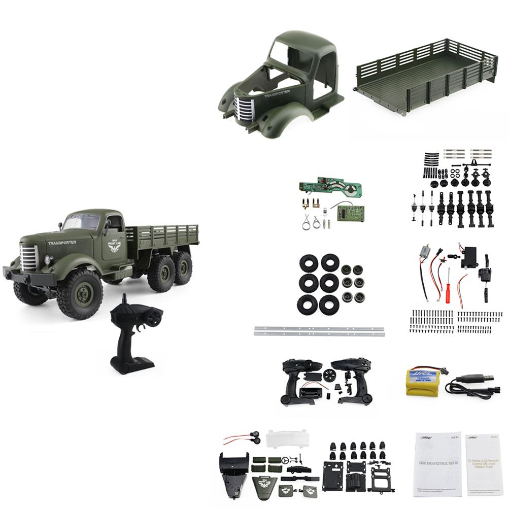 rc-cars JJRC Q60 Kit 1/16 2.4G 6WD Off-Road Military Truck Crawler RC Car RC1390279 2