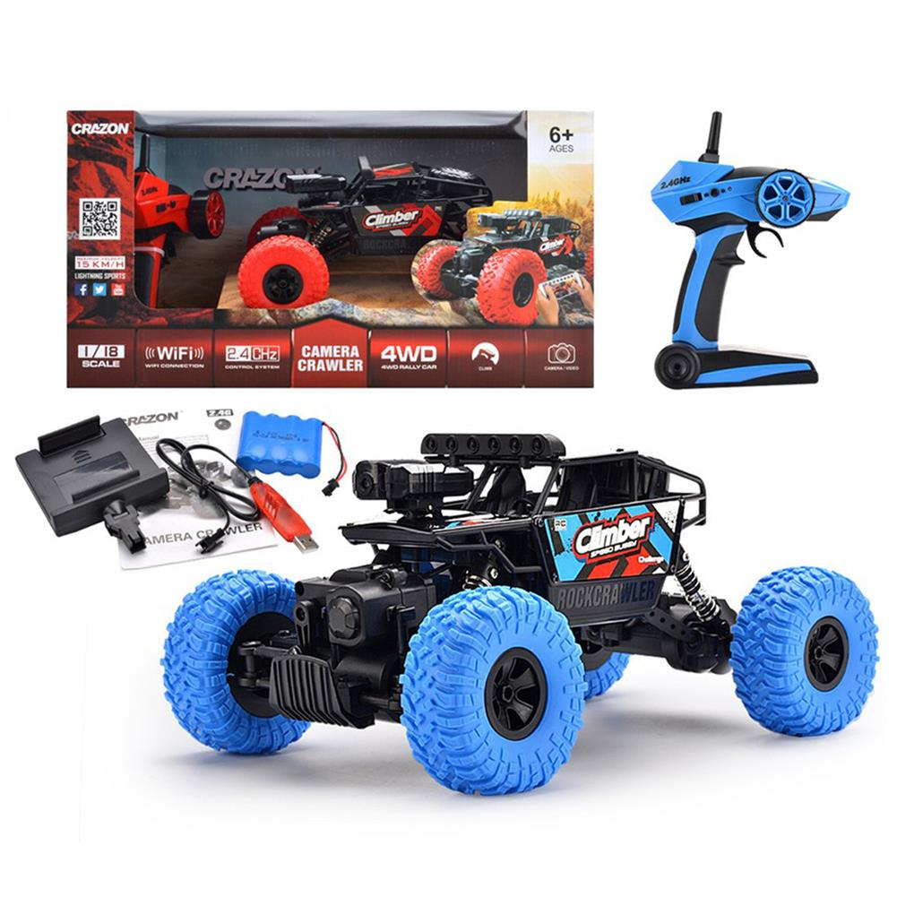 rc-cars Crazon 171803B 1/18 2.4G 4WD 15km/h Rc Car 480P HD WiFi App Control Off-road Truck RTR Toy RC1393457 5