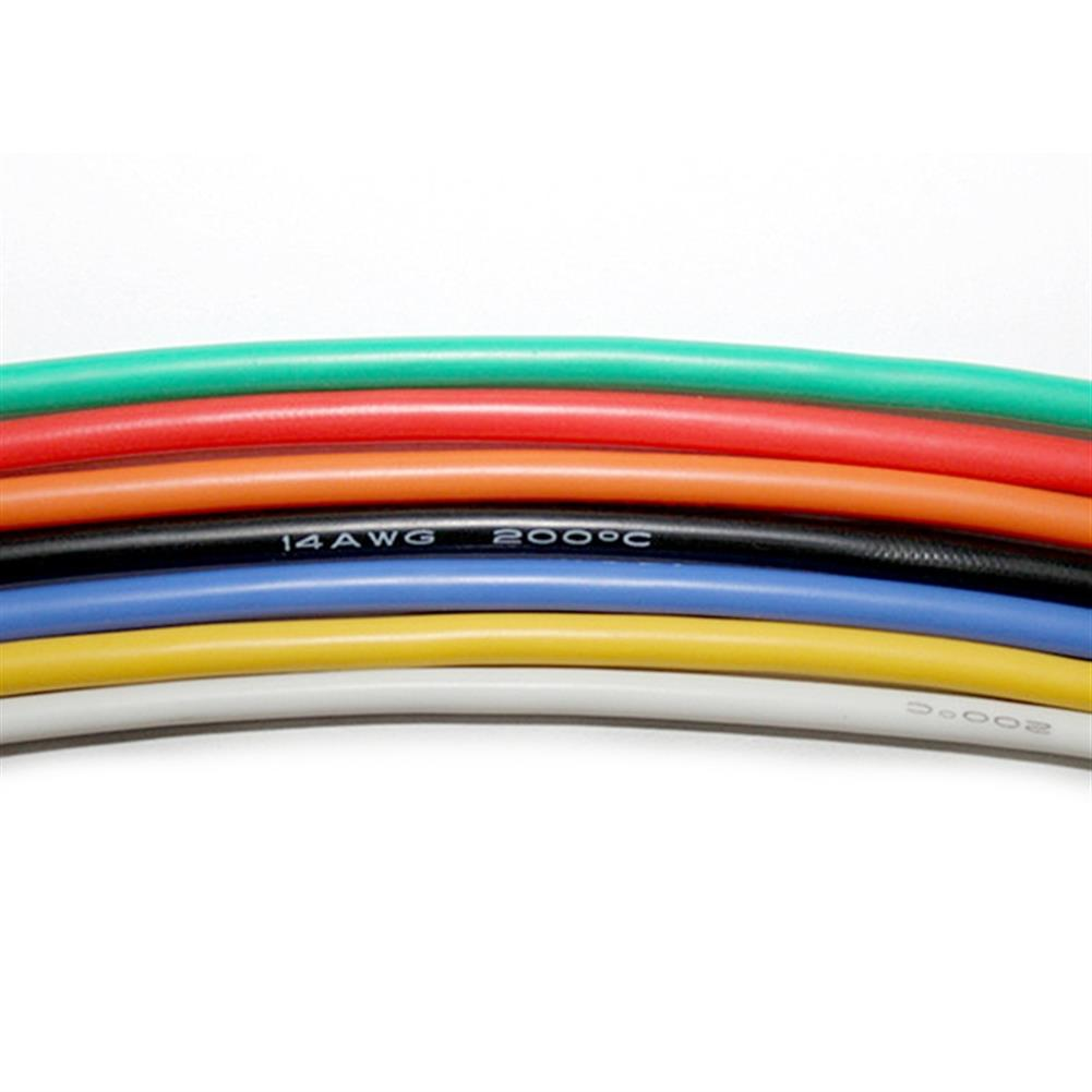 rc-airplane-parts 10m Soft Silicone Wire 22AWG Heatproof OD 1.7mm Flexible Cable Black/White/Red/Green/Blue RC Model RC1394222 1