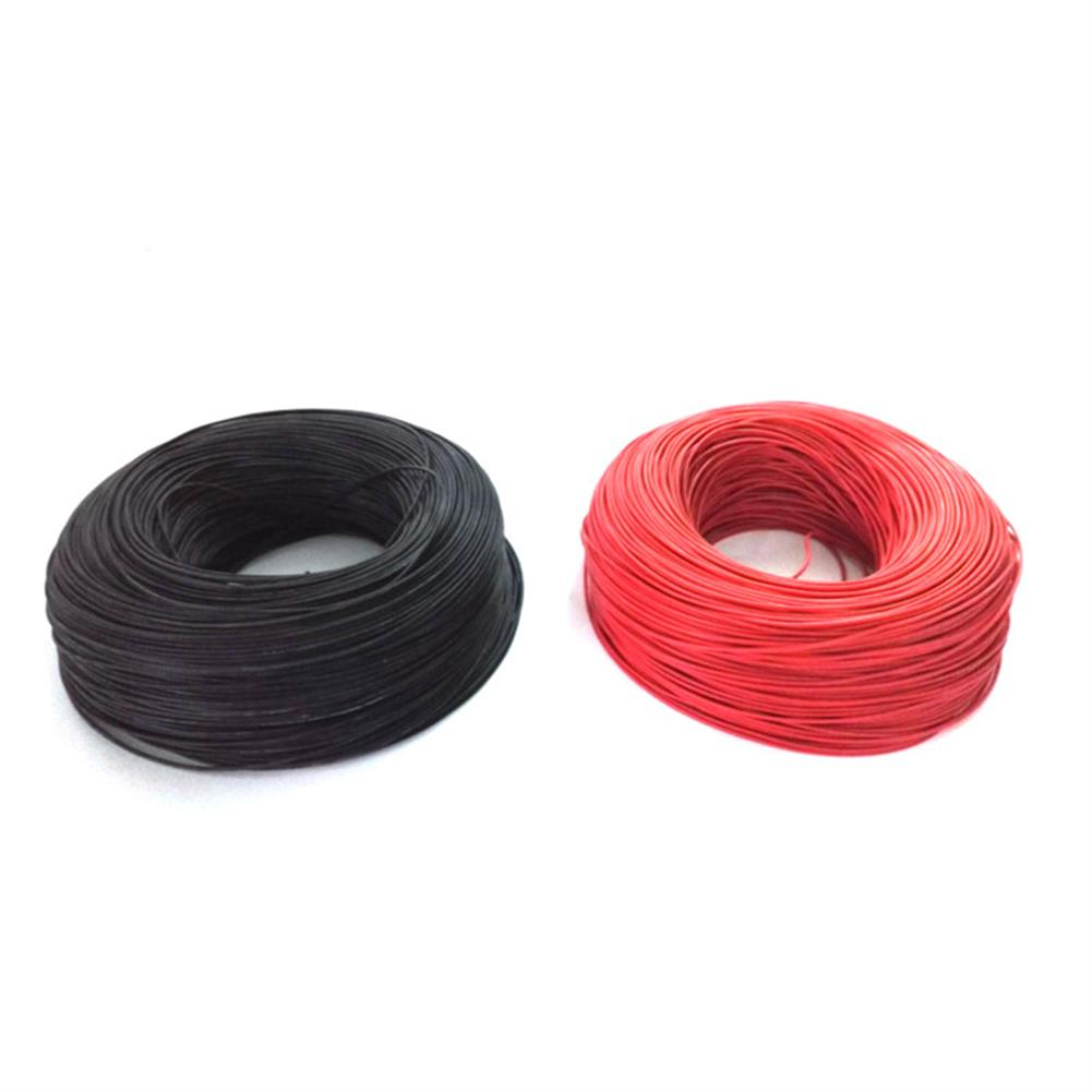 rc-airplane-parts 10m Soft Silicone Wire 22AWG Heatproof OD 1.7mm Flexible Cable Black/White/Red/Green/Blue RC Model RC1394222 3