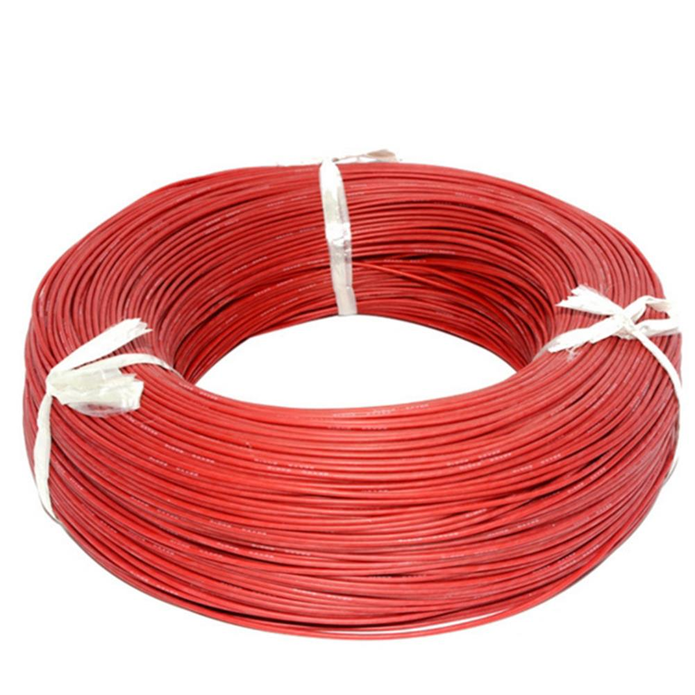 rc-airplane-parts 10m Soft Silicone Wire 22AWG Heatproof OD 1.7mm Flexible Cable Black/White/Red/Green/Blue RC Model RC1394222 4