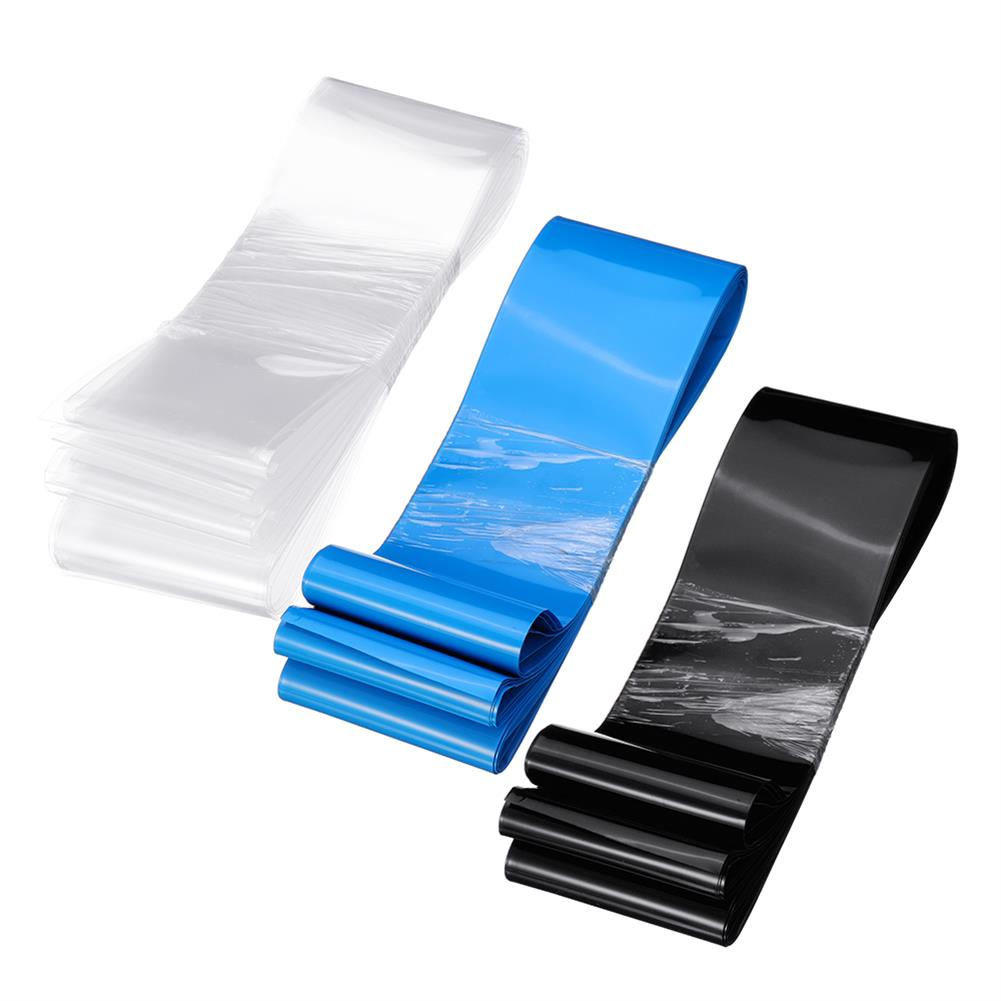 tools-bags-storage 85mmX10m PVC Transparent/Black/Blue Color Heat Shrink Tube for Lipo Battery RC1395352