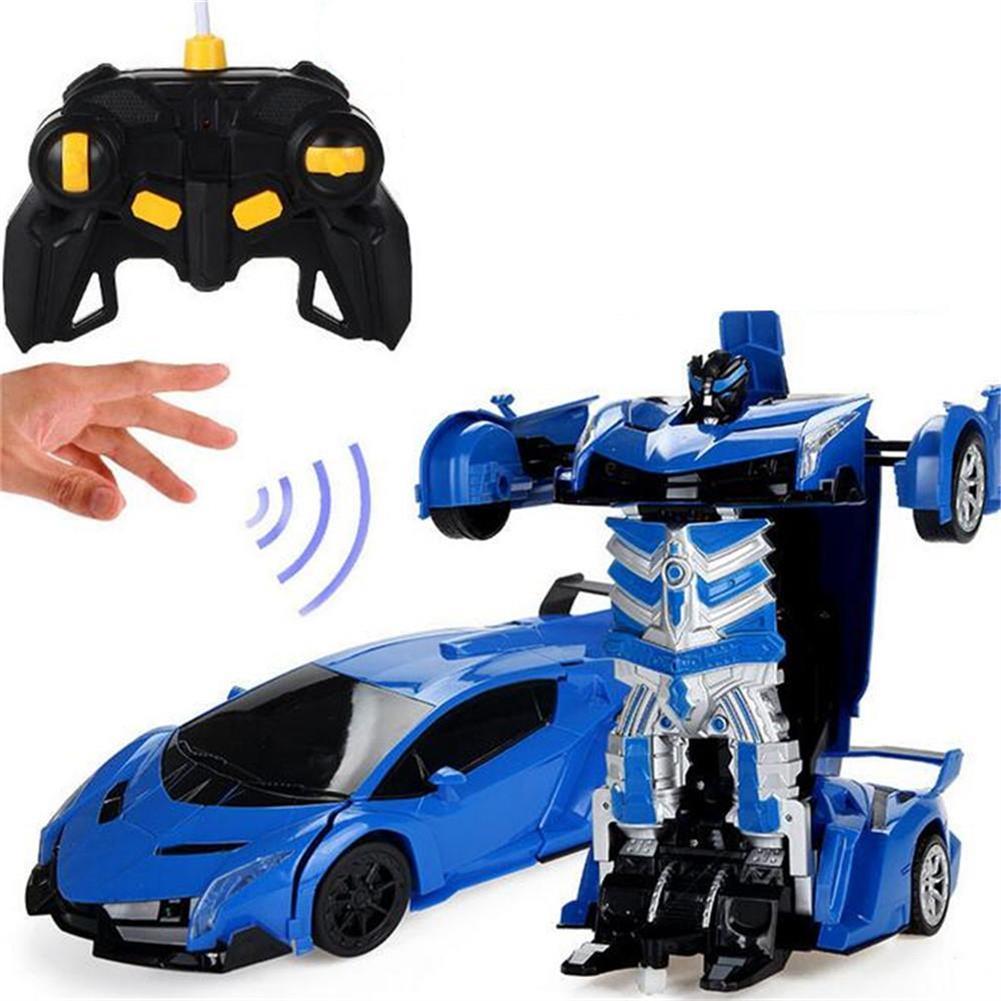 rc-cars Wei Yu Toys 1/14 2.4G Gesture Induction Radio Control Rc Car One-Key Deformation Lighting Robot RC1395995