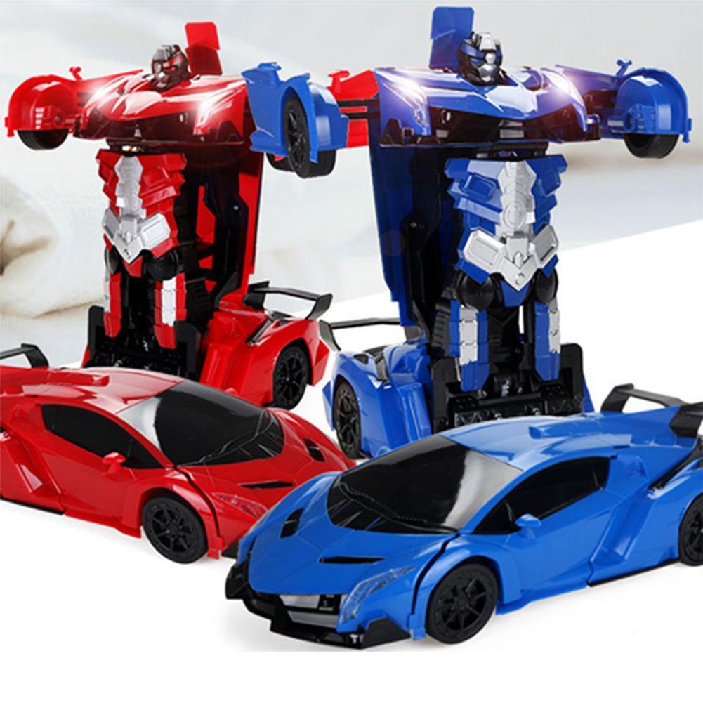 rc-cars Wei Yu Toys 1/14 2.4G Gesture Induction Radio Control Rc Car One-Key Deformation Lighting Robot RC1395995 4